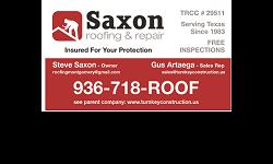 http://www.turnkeyconstruction.us If you mention this ad.I will install a quality Certainteed Landmark shingle on your 3,000 sq. ft. home for only $6,900 call and talk to only me: Steve Saxon for this great deal. 936-718-7663 (Roof) My Company is rated A+