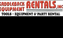 At Saddleback Equipment Rentals we've been providing reliable equipment, innovative solutions and excellent service at competitive prices to our valued customers in Orange County since 1967. As one of the most diverse party and equipment rental companies