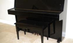 Good condition Schafer and Sons up-right piano - black. Needs tune-up. Moving can't take it. Price reduced, please no bargain. We are located at Gilroy about 25 miles to San Jose. We do not deliver, you have to arrange for pick-up and handling.