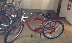 I have for sale a Men's 26 inch Schwinn Beach Point 7 Speed Bike.  Moves in and out of gear like new.  There is a spot on the back fender where the chrome is coming off, otherwise this bike is in great condition.  I recently moved to