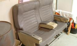 1st Class leather seats from airliner for sale.