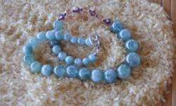 Beautiful Jasper necklace accented with swarovski beads. Silver clasp and silver findings. All necklaces are one of a kind and hand made.