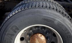 8 aluminum rims 10 holes with tires 295/75R22,5 about 50%