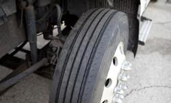 new steer tires 295/75R22,5 and aluminum rims 10 holes