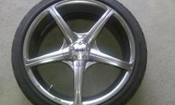 """Set of 18"""" Light weight 5 spoke Advanti Racing rims with Dunlop 215-402-R18 85W tires, 4 Bolt - Honda/Acura. Great contition tires and rims. Willing to negotiate. Reasonable offers only. For more information call Andrew 905 717 0364"""