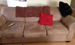 light brown couches in very good condition