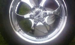 I have a set of rims and tires, the tires are Hankook and 2 are like brand new and the other 2 still have 50% tread, they are 20 inch rims that are 5 hole and they fit Chevrolet Vehicles, I'm willing to sell just the tires too. Please call or text