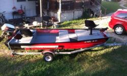 2014 all welded galvanized steal square tubing. Tires and galvanized rims like new. All hardware bought new, crank, hitch, tires, galvanized square tubing, lightning wires, plug. Picture of the boat that was on it, bigger tires now.