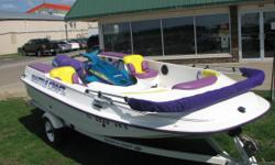 1998 ShuttleCraft CSL This isA JetSKi Perpelled Boat. Has 3 storage compartments, a Radio with a cover over it. Seats up 5-6, and has a canopy. (15' Long-680 lbs.) with a 1997 Yamaha Wave Runner 760 Which is 9' long, has 754