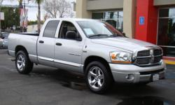 Loaded Dodge Ram with 4 doors and plenty of seating for all! Put this bad boy to work with its 6-foot bed, tow package, and v8 Hemi 5.7L engine! Or, if you'd rather, take the family out in one this rugged yet refined ride! This truck is packed with power