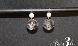 Ladies, get ready to be WOWed! Using Winchester rounds Spent Rounds is known for creating one of a kind fashion pieces for the smart, edgy and bold woman for years. It takes a special kind of girl to rock a set of bold earrings! This pair is made from 20