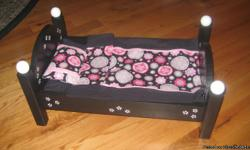 """These beds are hand made from 3/4"""" pine, very durable and sturdy, they will be able to pass them down to their kids. The single beds are $50.00, we also have some bunks left as well, they are 90.00. They come painted and with the bedding, which is a"""