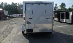 """Stock#:custom order Serial#:order Description ::: cargo enclosed trailer standard features: 1.) Thermacool lined ceiling 2.) V-nose w/ solid wall construction 3.) Rear ramp door w/ spring assist 4.) Rv flush lock w/ keys on 32? side door 5.) 24"""" atp"""