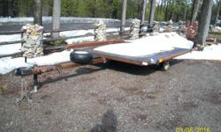 """Older side by side snowmoble tailer.good bones, all working lights, 2"""" ball"""