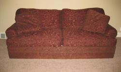 Beautiful sofa,orginally purchased at Schneidermans for 1400.00. Custom upholstery.Removable cushions and pillows. Good condition. Must sell.