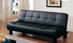 I have a new Dark brown futon sofa sleeper with matching 5pcs ottoman set in a Dark Brown modern leather covering for $300.00 for the set. Futon and ottoman set is new in the original factory boxes and are left over from an interior designs job. Futon