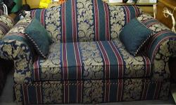 I have a matching Alan White Couch & Love Seat set Couch & Love Seat in Good/Clean condition, Just too large for space available. However Couch has a spot on the arm & mark on underside of cushion. Couch & Love Seat come with 8 Pillows I am selling them