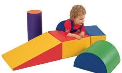 Durable, wipe-clean vinyl foam blocks. Great for building or climbing. Lightweight. $165 new. Perfect condition.