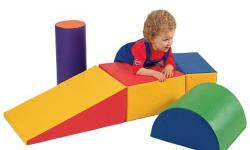 Like new, made of school quality durable, wipe-clean vinyl covered foam. 5 shapes, light weight, normally $165 new for all 5 (www.cptoys.com).
