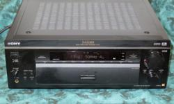 Sony home stereo 5.1 channel with 120Watt front, center, rear so this has plenty of clean Sony audio power.  Two of the pictures shown are specs but they are small print, lots of info.   All sorts of inputs and outputs.  The