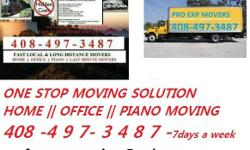 Bay area One Stop MOVING Solution ( home - office - piano - last minute movers ) we also do pickup delivery loading unloading labor services