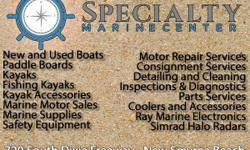 Serving the greater central Florida area, our full lineup of quality new and used boats means that you can find what you are looking for at Specialty Marine Center. We offer a great selection of boats, fishing kayaks and paddle boards.  We