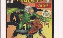 "Spider-Man Collectible Series *Volume 15 *No.7 (6.5""x10"")   - hand made from cover of comic    *Cliff's Comics & Collectibles *Comic Books *Action Figures *Hard Cover & Paperback Books *Location: 656 Center Street, Apt A405,"
