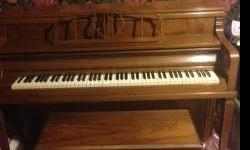 I have beautiful Sohmer (second only to Steinway) spinet piano. It has a lovely light walnut finish without chips, scratches. This instrument has a brilliant sound and is perfect working condition; will need to be tuned after the