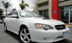 Calling all Subaru and sport-car fans! Here's a chance at one hot gas-saver - the Legacy GT! Everything you could want is here - 4 doors, gas-saving 4 cylinder engine with Turbo, automatic transmission, all-wheel drive for stability and control, rear