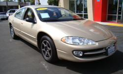 The Dodge Intrepid was in a class all its own! This large car boasts ample room for five adult-sized passengers on very soft seats! Sporting a v6 engine, this car will get up and go, giving you a smooth sporty ride! Loaded with powers windows and locks,