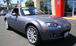 "You have got to see this Miata! Beautiful titanium exterior is complemented by luxurious ""rustic brown"" leather interior! This 6-speed manual convertible will give you a ride unlike anything you've felt before! Enjoy the San Diego sunshine as Spring and"