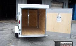 """Stock #: CUSTOM ORDER Serial #:order 1.) Therma cool lined ceiling 2.) V-nose w/ solid wall construction 3.) Single swing rear door w/ bar lock 4.) 24"""" side door with an rv flush lock w/ keys 5.) 24"""" atp stoneguard front 6.) Atp strip up"""