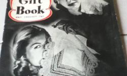 The book is in excellent condition and contains 31 pages of gifts for you to knit, crochet, or tat. Projects include slippers, gloves, aprons, hand bags, scarves, and socks. More informaton at: www.etsy/shop/RobinsRetro.