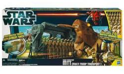STAR WARS 2012 MTT TRADE FEDERATION MULTI TROOP TRANSPORT! TRANSPORT is new and factory sealed! The incredible Trade Federation Multi Troop Transport vehicle will take you to new heights of realistic Star Wars action! Just like the vehicles