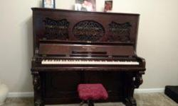 """Rosewood finished Upright 7 Octave Style #3 Piano. Overall height 4'4"""" in height. Completed and sold On March 24th, 1868. Stool included. Beautiful furniture. Authentication papers from Steinway & Sons dated July 20th, 2010 available."""