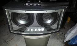 """I am selling my two 12"""" Phoenix Gold subs in a customized box ready for play including 1600W Autotek amp that is just a couple months old. The sound is quality and bumps. The box creates a great sound. Im going to be doing a bit or travelling and need the"""