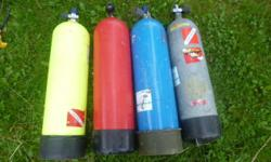 I have 4 scuba tanks 3 wet suits that are scuba pro 2 BC vest that are scuba pro 1 weight belt 1 regulator  Every thing can be bought all togeter or seperate