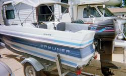 Boat, Motor, Trailer 1989 Bayliner Escort Force 89 Engine 50 Horse Power 16 foot glass boat Extra gas can 2 New tires plus spare Last Year I added $300 worth throttle cable work.