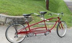 "Sun Cruiser tandem bike. Like new, ridden maybe 12 times. 26"" tires, 7 gears."