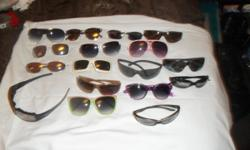Sunglasses $1.00 each pair assorted sizes for men and ladies sunglasses. Asking a dollar a pair or make us a offer we can't refuse for as many pairs as you would like. photo included. Interested call Tracy at 719 390-3975 and /or D at