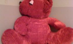 Super-sized Cuddly Red Teddy Bear For Sale: Over-sized red teddy bear that is looking for a loveable home Great condition..no holes, stains or odors ***Cost - Let?s Make A Deal. The first person that makes me a ?reasonable? offer will win Cuddles I would