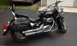 like new, never laid down, 1700 original miles, Black full dress leather large bags, extra set of pipes, windshield paid extra and extra chrome when bought new! Smooth ride double seat! Must see to appreciate...location I80 at Rt 19