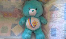*~*This is a Sweet Thanks A Lot Bear.. He may need a light Cleaning. His nose is a little scuffed up.. Eyes are good. He has the Darling Rainbow on his Tummy and Star with a heart in the center of it. He measures about 14 inches tall Sweet Bear from