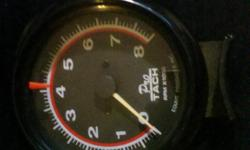 """Tachometer Pro Series 3 1/8"""" Diameter By Equus Products Inc. Illuminated, 0-8000RPM, Transistorized with Jeweled D'; Arsonval For Accuracy within +-3% For All Hei and Conventional Ignition Systems With 4, 6, 8 Cylinders ( Except Diesels ) Like New"""