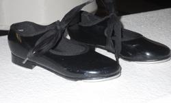 Black Patent Leather Tap Shoes - 'Danshuz' - Size 7 Excellent condition, upscale brand: $15.00  Black Patent Leather Tap Shoes - 'Cappezieo', Size 8 1/2 Excellent condition, upscale brand: $12.00 Negotiable pricing if taking both items.