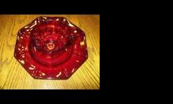 """Unmarked Royal Ruby Red Glass Cup & Saucer Set in perfect condition. -$20 Must see to appreciate. I also have the """"Mother"""" Set which would probably be used more for a soup cup since is is larger. This cup is at least 75 years old, an antiques, and"""