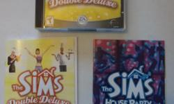 The Sims Deluxe PC Game for Your PC. Includes the CD's, Instructions and House Party.  Free Local Pick Up or $12.95 to Ship.