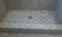 TILE WORK ON BATHROOMS SHOWER'S KITCHENS FLOORING TILE ALL AREAS OUT SIDE IN SIDE ANY STONE NATURAL OR PORCELANE TILE CERAMIC TILE GLASS MOSAIC TILE I HAVE HENDRED WORK REFERENCE AND THIS PEOPLE THERE VERY HAPPY WHITH THE JOB IF DO YOU WANT A WORK TILE