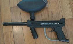 For sale is this Tippman 98 paint gun in great condition. It comes with all those accessories, and its original box, not pictured, including balls. It also has a bag, where everything is kept. Give us your best offer.