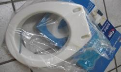 for sale is this hardly used toilet seat elevator, standard size. It elevates 3 1/2 inches. It is still in its original box and it is almost new. Made by Carex.